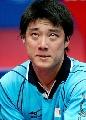 图文:世乒赛日本队全体队员 男单选手韩阳