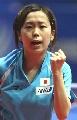 图文:世乒赛日本队全体队员 女单队员福冈春菜