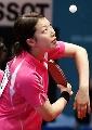 图文:世乒赛日本队全体队员 女单队员藤井宽子