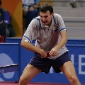 图文:世乒赛罗马尼亚队全体队员 克里桑做老大