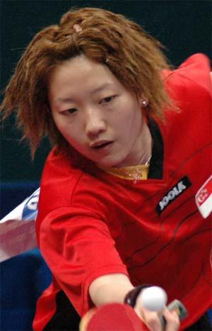 图文:世乒赛朝鲜队全体队员  李佳薇