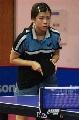 图文:世乒赛奥地利队全体队员 李强冰准备接球