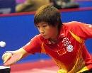 图文:世乒赛中国队员 女双7号种子选手刘诗雯