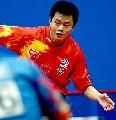 图文:世乒赛中国队全体队员 男13号种子侯英超