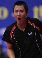 图文:世乒赛中国台北全体队员 蒋彭龙经验丰富