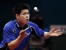 图文:世乒赛中国台北全体队员 男单队员吴志祺
