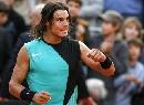 图文:ATP汉堡大师赛第五日 纳达尔庆祝胜利