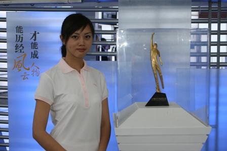 图文:第二十届体博会第三天 体坛风云人物展示1