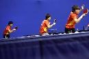 图文:中国女队适应性训练 女队训练情绪饱满