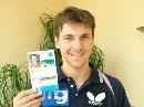 图文:德国选手波尔风采 这是我的参赛证