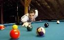 图文:德国选手波尔风采 除了乒乓球还有台球
