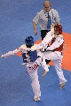 图文:罗微惜败女子72公斤级半决赛 双方拼杀