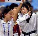 图文:罗微惜败女子72公斤级半决赛 体力透支