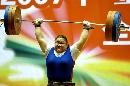 图文:女举锦标赛75公斤以上级 唐功红获铜牌
