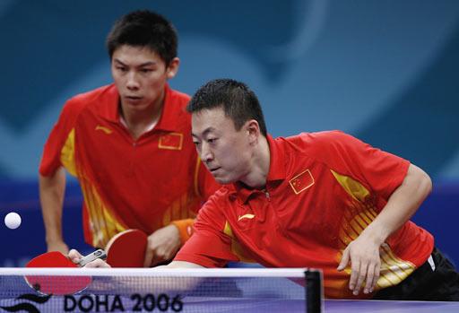 雅典奥运和多哈亚运男双冠军马琳陈玘并不一定成为08奥运男团双打