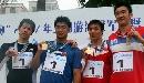 图文:全国游泳冠军赛第七日 浙江接力队领奖