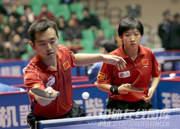 第48届世乒赛图片资料 混双选手孔令辉刘诗雯