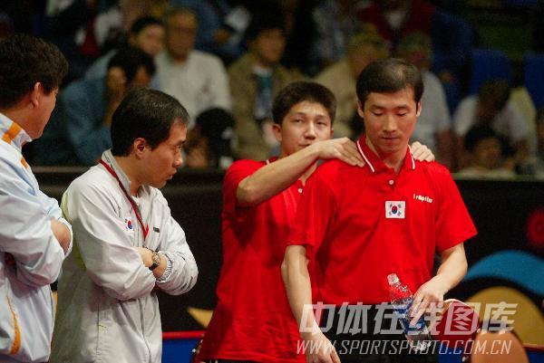 图文:[乒乓球]47届世乒赛回顾 韩国选手出战
