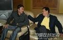 第47届世乒赛资料图片 杨树安和马琳交谈