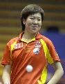 图文:中国乒乓队赛前训练 李晓霞始终微笑