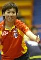 图文:中国乒乓队赛前训练 李晓霞看准来球