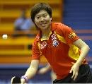 图文:中国乒乓队赛前训练 李晓霞正手活动