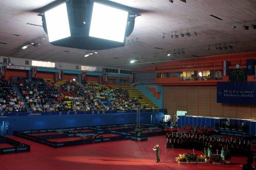 图文:第49届世乒赛开幕式 主办代表致辞