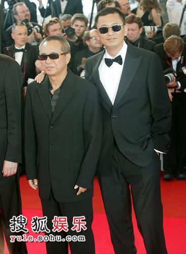 王家卫(右)与侯孝贤