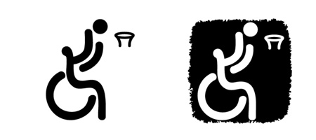 图文:北京残奥会体育图标正式揭晓 轮椅篮球