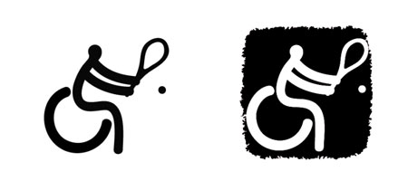 图文:北京残奥会体育图标正式揭晓 轮椅网球