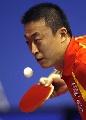 图文:世乒赛中国男单7虎进第3轮 马琳沉着冷静