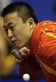 图文:世乒赛中国男单7虎进第3轮 马琳老当益壮