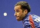 图文:世乒赛男单第1轮 法国埃洛瓦不敌加卡巴