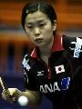图文:世乒赛女单第2轮 福冈春菜不敌杜迪安