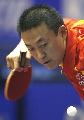 图文:世乒赛中国男单7虎进第3轮 马琳表现沉稳