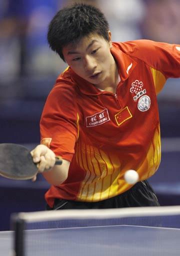 图文:世乒赛中国男单7虎进第3轮 马龙初生牛犊