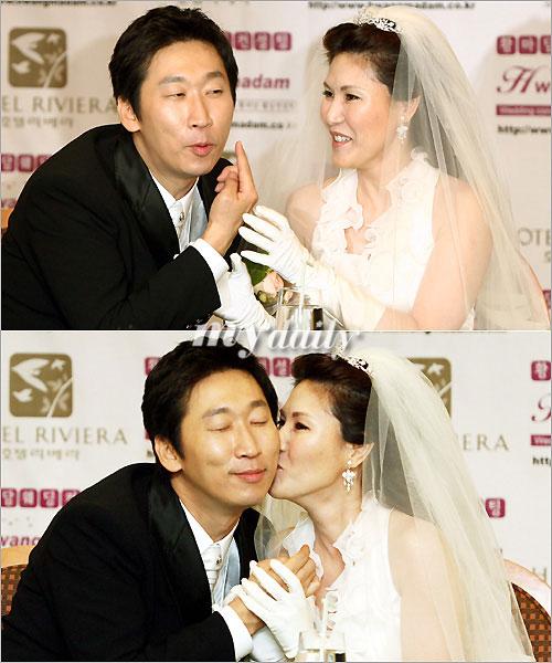韩国搞笑艺人金贤基与日本女演员渡边琴美