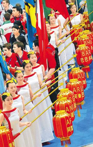 中国风味浓重的开幕式 人民网记者 史家民摄
