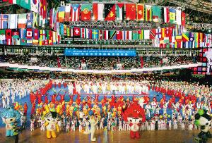 跆拳道赛场。 人民网记者 史家民摄