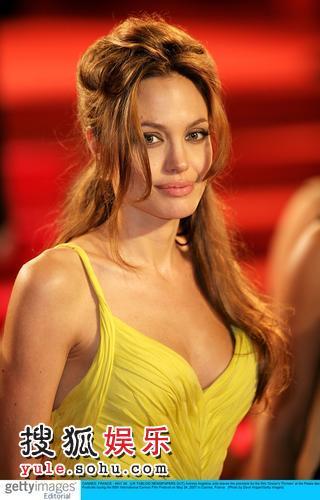 图:安吉丽娜-茱莉发型随意 低胸礼服性感高贵