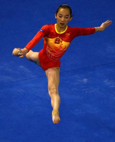 图文:中澳女子体操对抗赛