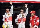 图文:[F1]摩纳哥站排位赛 迈凯轮车手动作一致