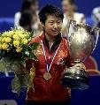 图文:世乒赛女单颁奖仪式 郭跃已获得两项冠军