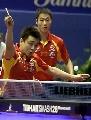 图文:世乒赛男双决赛 直拍横拉是王皓最擅长的