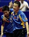 图文:世乒赛男双决赛 马琳感谢陈�^的灵光乍现