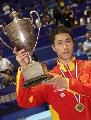 图文:男单决赛王励勤夺冠 王励勤展望未来