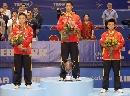 图文:男单决赛王励勤夺冠 中国小伙占据前三