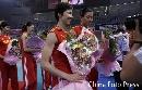 图文:女排精英赛及颁奖仪式 周苏红接受采访