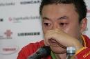 图文:马琳世乒赛铩羽亲人去世 马琳哭红双眼