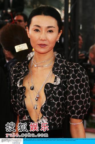 张曼玉在第六十届戛纳电影节上